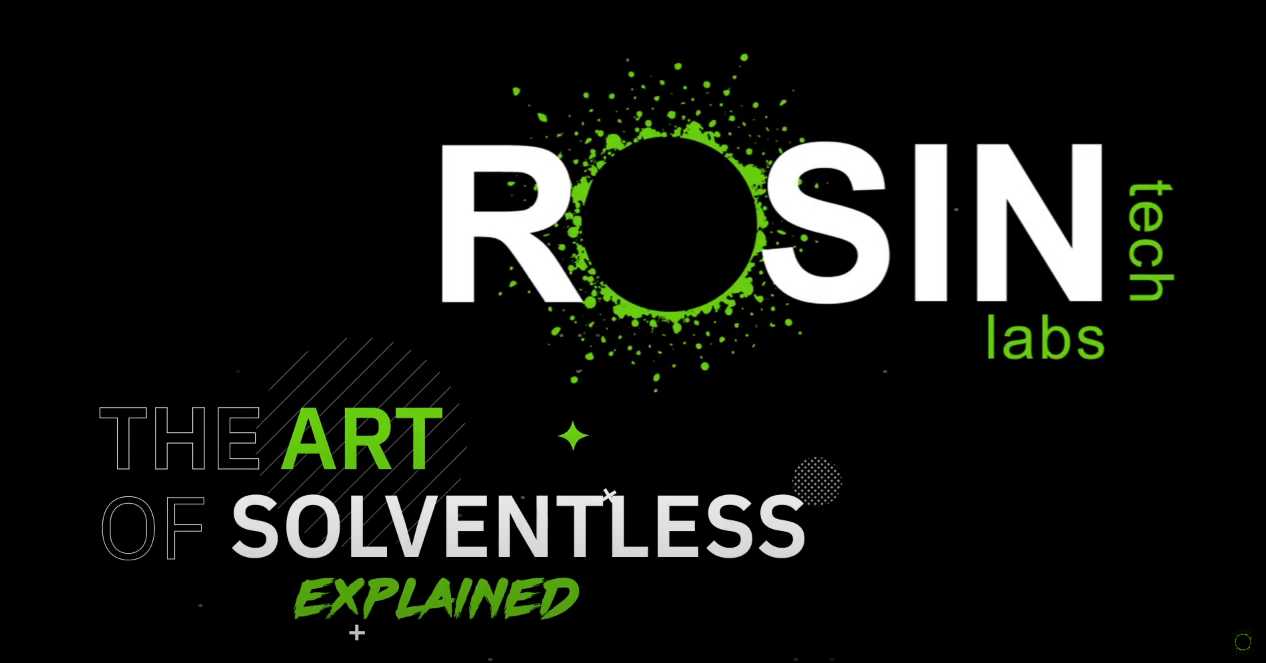 """Rosin Tech labs Click to view full Youtube video """"The art of solventless explained"""""""